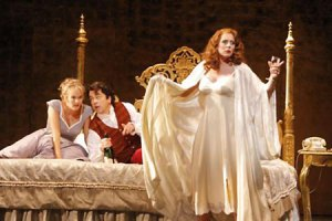 Susanna, Figaro, Countess Almaviva. Photo by Robert Millard.
