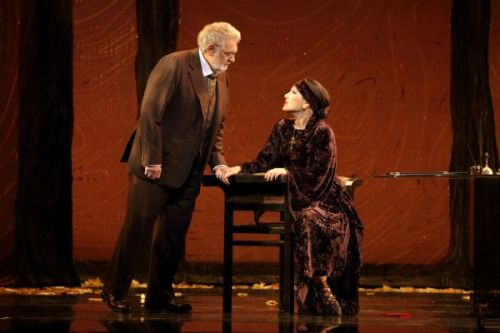 Plácido Domingo & Nino Machaidze                                      (Photo: Craig Mathew)